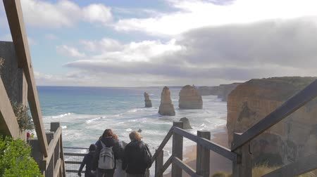 campbell : MELBOURNE,AUSTRALIA - CIRCA May 2013 :medium shot of the 12 apostles Stock Footage