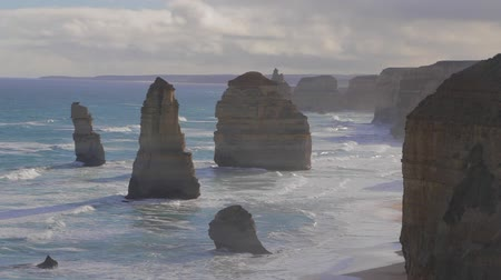 campbell : MELBOURNE,AUSTRALIA - CIRCA May 2013 :2 shots - 12 apostles - shots of both sides in great sunny weather