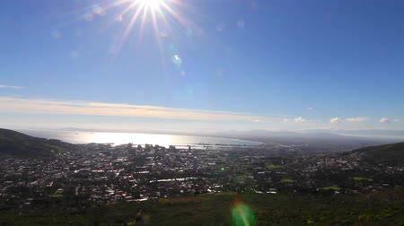 pretoria : CIRCA June 2013 - CAPETOWN ,SOUTH AFRICA - a pan of downtown Captetown from Table Mountain Stock Footage