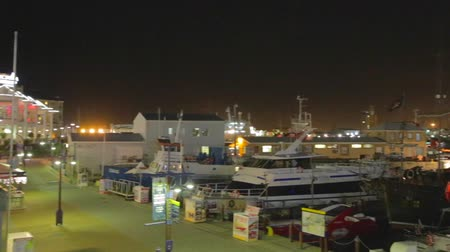 pretoria : CIRCA June 2013 - CAPETOWN ,SOUTH AFRICA - an evening pan at Capetowns waterfront Stock Footage
