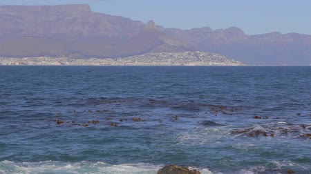 pretoria : CIRCA June 2013 - NEILSPRUIT, KRUGER NATIONAL PARK ,SOUTH AFRICA - a close shot of table mountain seen from Robben island