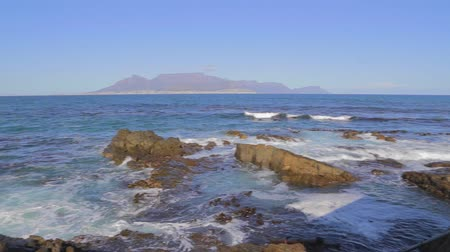 pretoria : CIRCA June 2013 - NEILSPRUIT, KRUGER NATIONAL PARK ,SOUTH AFRICA - a pan from the ocean viewpoint at Robben Island Stock Footage