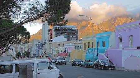 pretoria : CIRCA June 2013 - NEILSPRUIT, KRUGER NATIONAL PARK ,SOUTH AFRICA - a view of  the colorful houses at Bo-Kaap with a sunny backdrop of the mountains