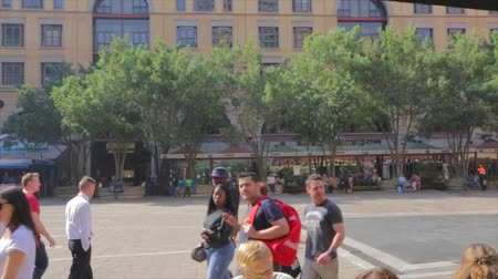 pretoria : CIRCA June 2013 - JOHANNESBURG ,SOUTH AFRICA - a pan from the patio area into the square as people walk by
