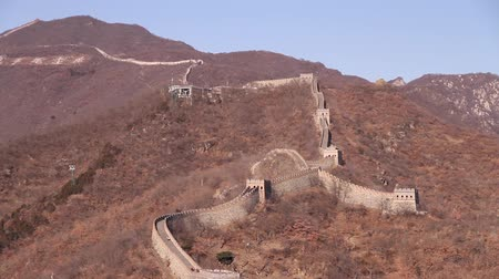parede : still shot of the great wall features writing with a message from mao Vídeos