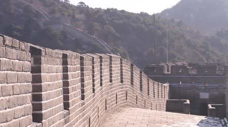 parede : Angle of the great wall walk way without people