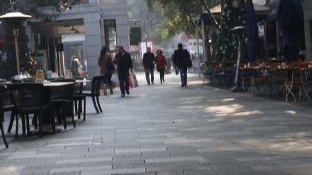 budynki : Daytime christmas in hip xintiand 2,  located in the center of Shanghai City south of Huaihai Zhong Lu Wideo