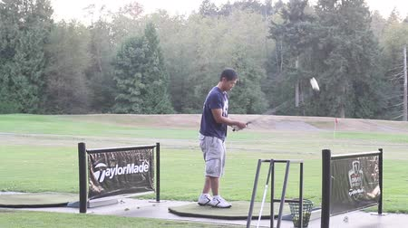 тройник : VANCOUVER, BC ,CANADA - CIRCA September 2011 :golf driving range - behind high angle