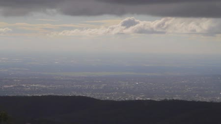 wallaby : a beautiful pan of adelaide seen from the mount loft viewpoint daytime