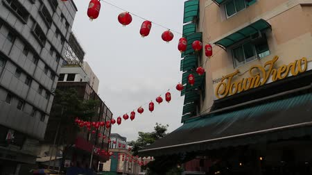 bintang : Bukit Bintang daytime market restaurant area with red lanterns