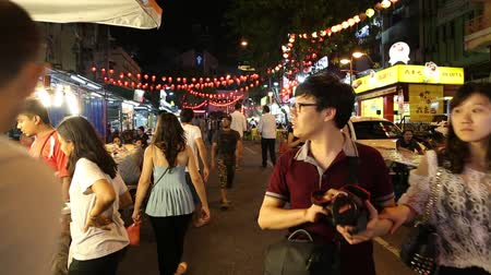 bintang : shot of the night market scene in Bukit Bintang