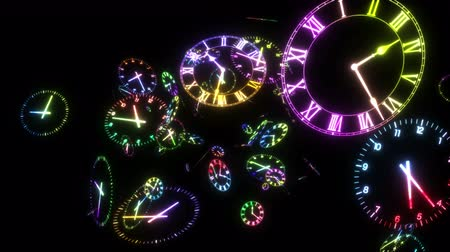 abstrakcja : Time warp loop rainbow colors black background
