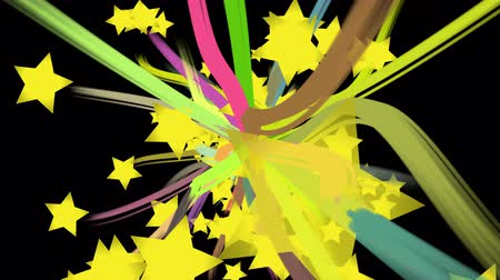 paint stroke and star burst