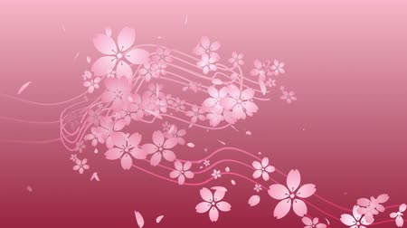gradace : Cherry blossoms are blooming along the trajectory, in pink background 2