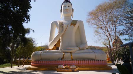 kaew : Big Buddha Statue on Samet Island. Stock Footage