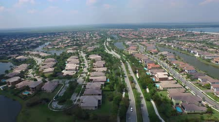 homes : Aerial of a suburban neighborhood Stock Footage