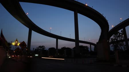 junção : Time lapse the industrial ring road night in Thailand