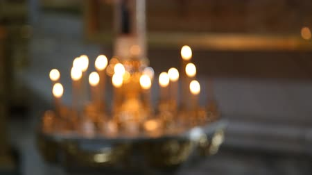 fazilet : The candles in Russian orthodox Church bokeh