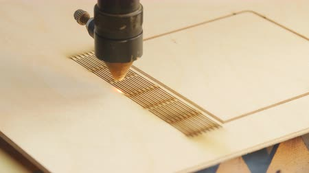 plywood : Laser machine cutting wood and plywood