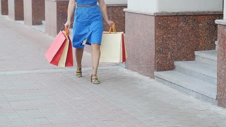 fashion outlet : Young woman with shopping bags