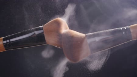 beauty products : Makeup brushes with powder