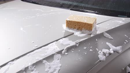 gąbka : Sponge for the car for washing Wideo
