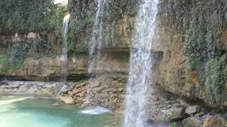 dominikana : caribbean waterfall Wideo