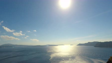aegean sea : Oia on Santorini in autumn Stock Footage