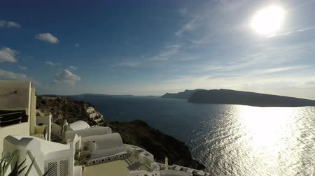 aegean sea : Santorini in 4k Stock Footage