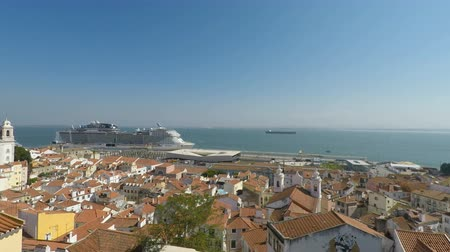 lizbona : viewpoint in the colorful city of lisbon in portugal