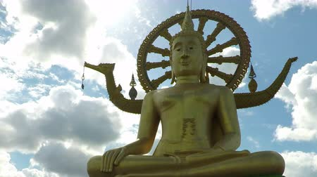 tur : Big Buddha statue on Koh Samui Stok Video