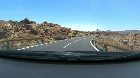 nearly : Road race at timelapse at teide volcano