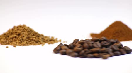 coffee grounds : Coffee, rotation isolated video on white background