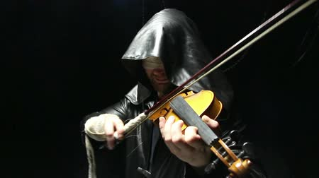 teatral : Blind man playing on a fiddle