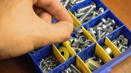 toolbox : Mans hand and toolbox