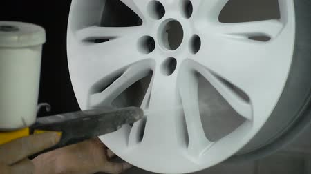 rivestimento : Powder coating of auto disk