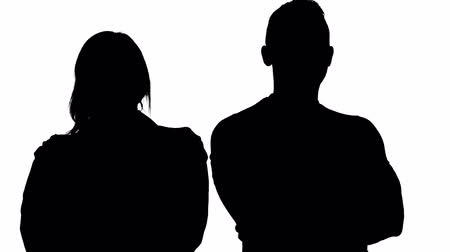unknown : Silhouette of partners - man and woman