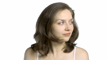 okey : Nodding young woman Stock Footage