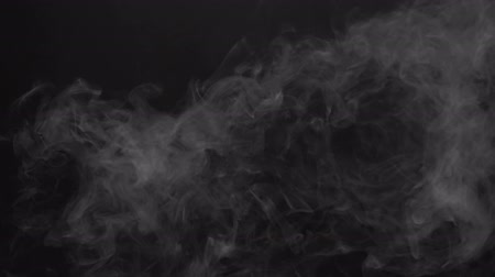 cigarette : Steam smoky cloud of electronic cigarette Stock Footage