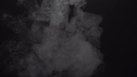 elszigetelt fekete : Video of isolated smoky cloud