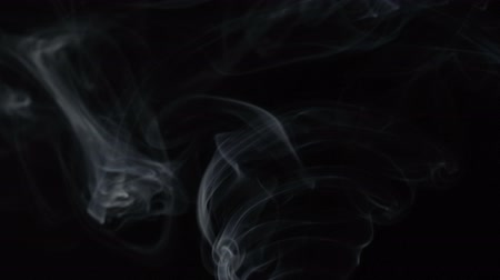 buharlama : White smoky cloud of steaming aroma stick, video