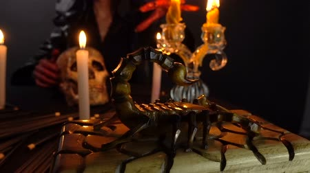 pohanský : Woman, scorpion and ritual