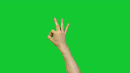 okey : Male ok symbol on green background