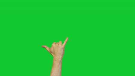 pinky : Drinking alcohol gesture on green background