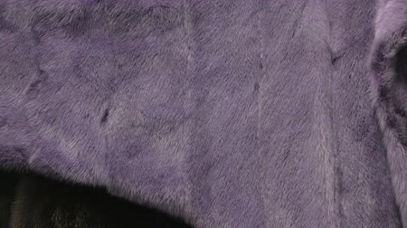 mink : Video of purple mink coat