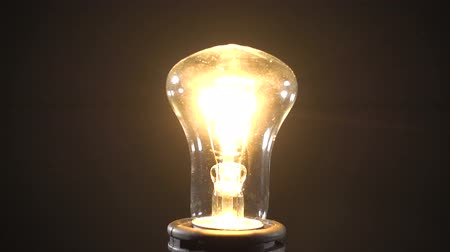 filamento : Footage of incandescent lamp Stock Footage