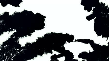 tornar : Black acrylic paint spreads on white material