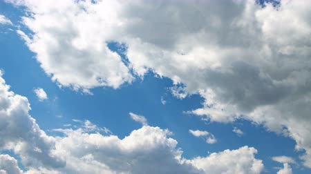 dizayn : Footage of the white clouds on blue sky