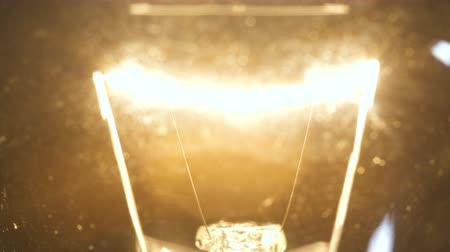 filamento : Video of filament bulb on black background