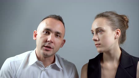 babbler : Video of couple during talking Stock Footage